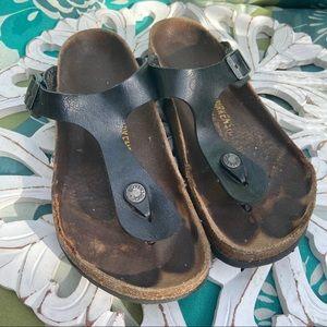 Birkenstock Black Sandals Shoes Women's 37